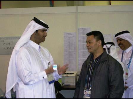 索贝 系列报道 同行 制造 亚运 之五 中国骄傲/阿拉伯四王子参观cctv工作区